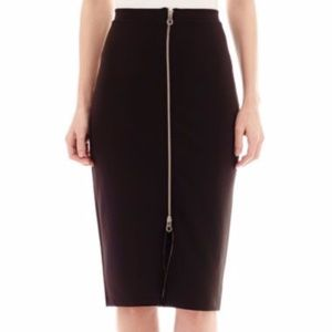 I Heart Ronson Zipper Pencil Skirt Size XL